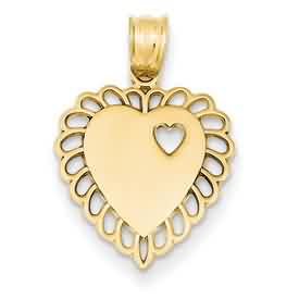 14k gold heart pendant weighs 11g measures 916w x 1316h