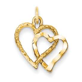 14k gold heart pendant weighs 11g measures 1116w x 1316h