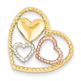 14k gold heart pendant weighs 31g measures 1w x 1 116h