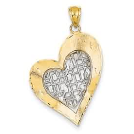 14k gold heart pendant weighs 18g measures 1516w x 1 116h