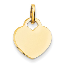 14k gold heart pendant weighs 15g measures 58w x 78h