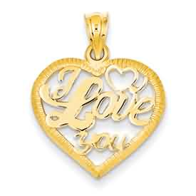14k gold cutout love heart pendant weighs 17g measures 1516w x 1h