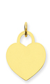 14k gold heart pendants to engrave