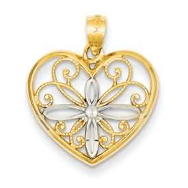 14k gold heart pendant weighs 9g measures 34w x 1316h