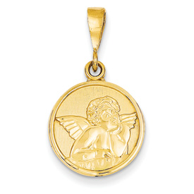 clearance item 14k gold guardian angel pendant