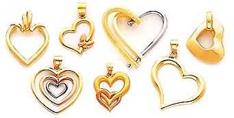 large gold heart pendants